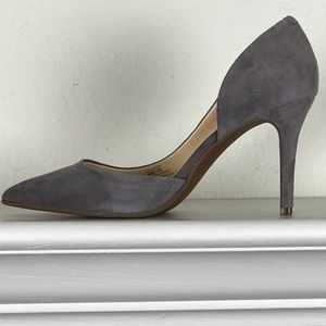 JP-LIVVY KIDSUEDE Dark-Stone D'orsay Pump Size 8M